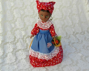 "Cleo, Market Lady, New Orleans Gambina Doll, 12"" collectible doll, Southern doll"