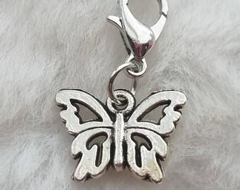 Sweet Silver Butterfly Charm - Clip-On - Ready to Wear