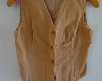 Vintage Tan Western Corduroy Vest