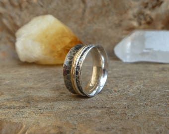 Sterling silver spinner ring // US size 6.5