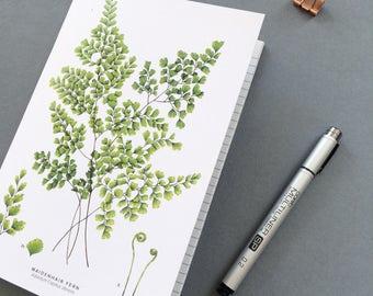 A5 Notebook - Maidenhair Fern