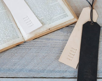 Leather Bookmark - by ClaireMagnolia