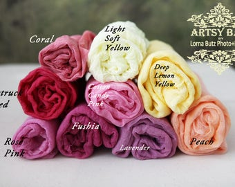 4 feet long 30 colors available warm colors Cotton Gauze Swaddle Blanket/ Newborn Photo Prop Cheesecloth Wraps/Newborn Wrap