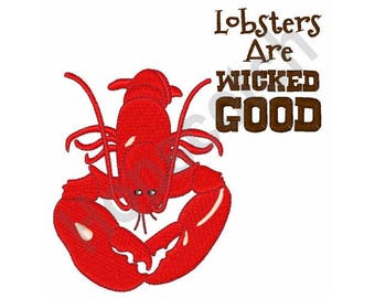 Lobster - Machine Embroidery Design