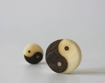 Yinyang Sign Natural Tagua nut Pendant Necklace