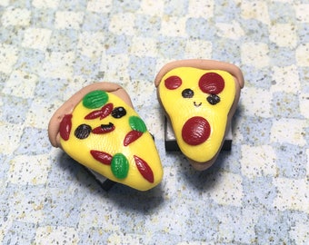 Polymer Clay Pizza Magnets