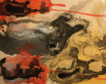 Original acrylic abstract on canvas 24x18