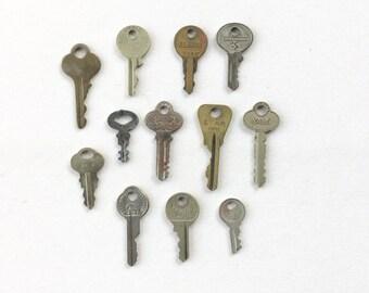 Vintage antique keys set of 12