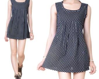 Knee length (M39) print Babydoll dress