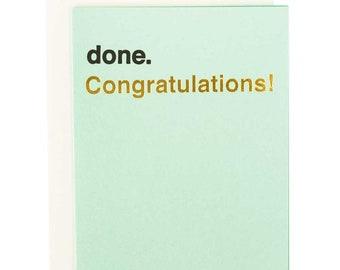 Congratulations Card - done. letterpress and gold foil graduation