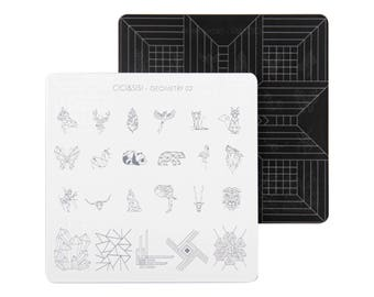 nail stamp plate geometry nail design 02