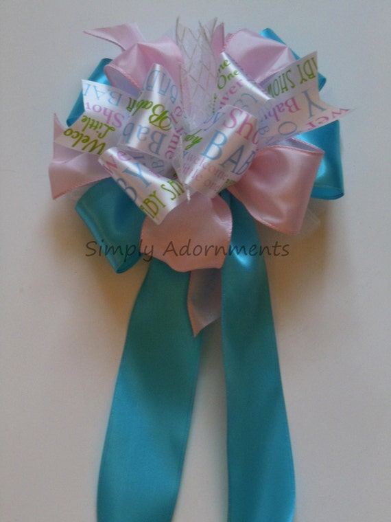Gender Reveal Party Decor Bow Gender Reveal Gift Bow Gender Reveal Party Decoration Baby Shower Gift Bow Gender Reveal Basket Gift Bow