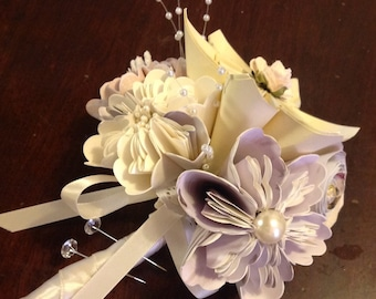 Origami Paper Flower Corsage