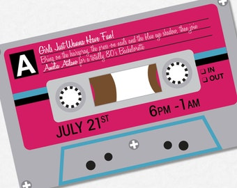 80s wedding invite Etsy
