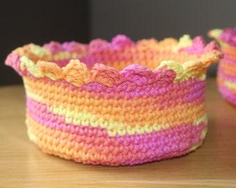 Crochet Nesting Baskets Pattern, Crochet Baskets Pattern, Nesting Baskets Pattern, Crochet Basket Set Pattern, Instant Download
