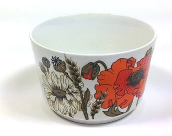 Poppies and daisies sugar bowl J & G Meakin