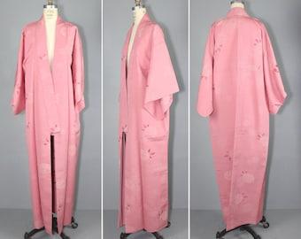vintage kimono / silk robe / dressing gown / MORNING BLUSH silk kimono