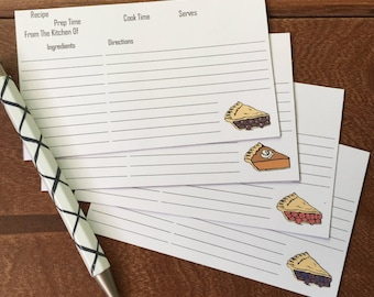 Pie Recipe Cards By Just Juliana Shop