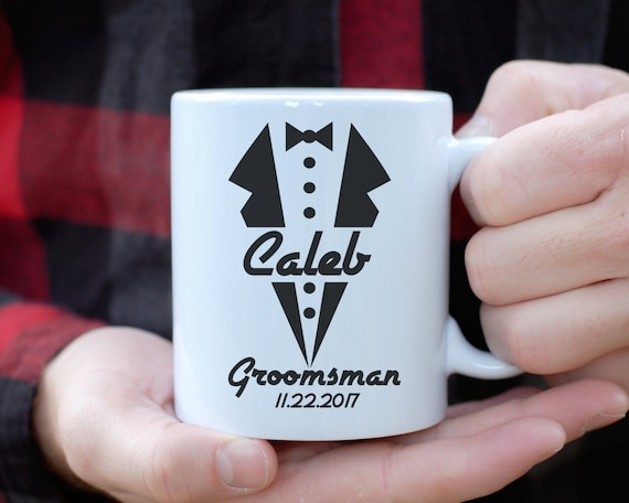Groomsman Mug, Groomsman Tuxedo Mug, Custom Groomsman Gift, Groomsman Proposal, Best Man Gift, Wedding Party Gift, Groomsman Coffee Mug