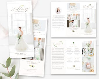 Photography Trifold Brochure Template for Photoshop, Client Welcome Guide, Flyer, Photography Pricing Guide, INSTANT DOWNLOAD!