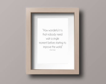 Anne Frank quote digital print