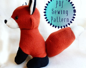 Red Fox plush pattern stuffed animal sewing PDF