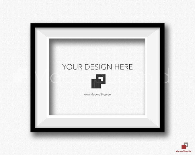 8x10 PHOTO FRAME  MOCKUP black, frame Stock Image, Empty black Frame Mockup, Empty black Mockup Frame