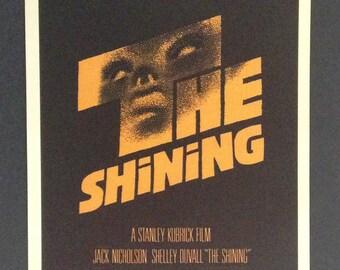 "The Shining Style B Movie Poster 12""x18"" // Stanley Kubrick // Jack Nicholson // Classic Film // 1980"