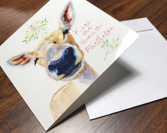 Woodland Christmas card set of 6  / Christmas cards / deer / fox / holiday / direct from artist Redstreake
