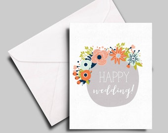 happy wedding card for a special couple, friend