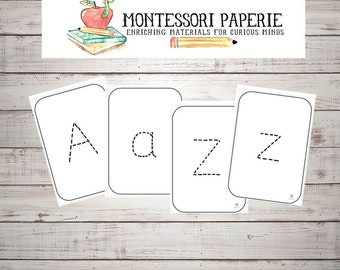 Alphabet Lowercase and uppercase tracing cards