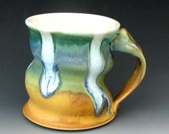 STONEWARE MUG #15 - Ceramic Mug - Coffee Mug - Pottery Mug - Coffee Cup - Tea Mug - Big Mug - Clay Mug - Handmade Mug - Studio Pottery