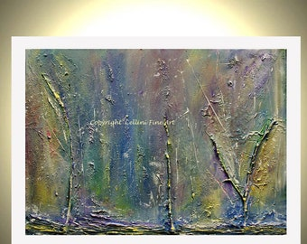 Abstract Tree Giclee Print From Original Painting Organic Landscape Fantasy Forest 11X14