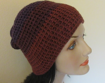 Purple Slouchy Hat, Women's Saggy Hat, Year Round Slouchy Beanie, Light Weight Slouchy Hat, Warm Weather Hat, Cold Weather Accessory