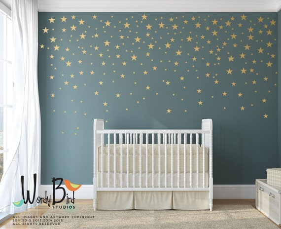 Gold Stars Wall Decals Pack Peel And Stick Confetti Wall - Wall decals gold