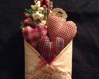 Pocket of Love/Ornie/Shelf decoration/Wall hanging/Hearts