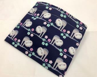 Reusable Snack Bag - Reusable Baggie - Sloths Snack Bag - Fabric Snack Bag - Reusable Fabric Snack Bag - Sloths in Trees