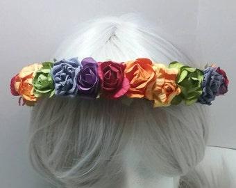 Rainbow Floral garland