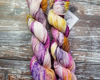 Hand dyed yarn sock kit 2 50g skeins  two at a time socks  Merino Wool,Nylon indie yarn