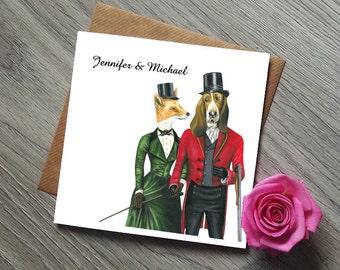 Unique Wedding Invitation Fox and the Hound Wedding Invites