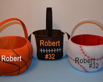 Colorful Monogram Fabric mesh Baskets, Personalized Great for decorations or Easter or Trick or Treating
