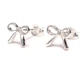 Bow Stud Earrings 925 sterling silver
