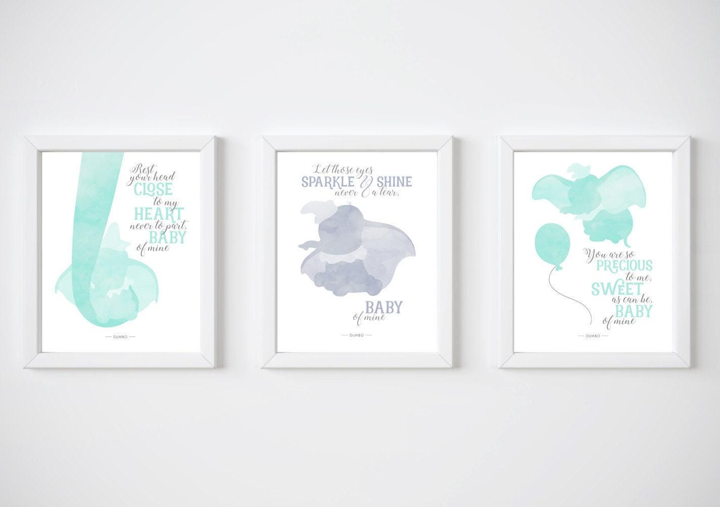 Dumbo Quotes Dumbo Printable Set Of 3 Disney Quotes Disney Prints Baby