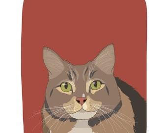 Pet Portrait Print - Custom Pet Portrait - Perfect Gift for Pet Lovers - Dogs, Puppies, Cats, Kittens, Birds - Custom Pet Portrait Prints