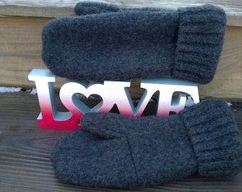 Men's Large Recycled Wool Mittens