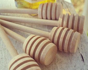 Mini Honey Dipper - Honey Favors - Wedding Favors - Honey Jar Favor - Wooden Dippers - Rustic Weddings - Honey Dipper Favor - Bridal Shower