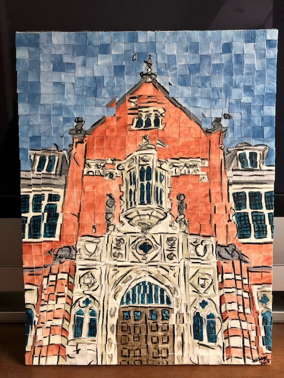 "Montgomery, Alabama - Huntingdon College - Architectural Art: 12""x16"" Original Painting"