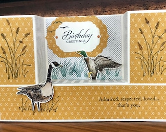 In the Wetlands U Shape Card