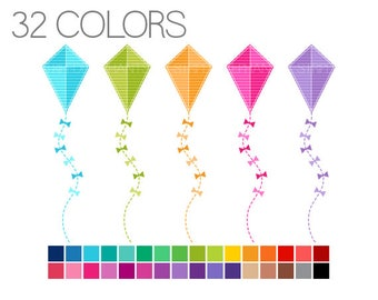 Kites Clip Art - Digital Scrapbook - Instant Download - Commercial Use