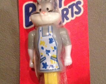Vintage Bugs Bunny Pez Dispenser, Body parts, Pez and Bon Bons, Bugs Bunny Artist In packaging